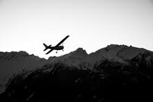 A Single Engine Airplane Flyin...
