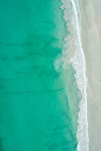 Aerial Image Of A Sandy Beach