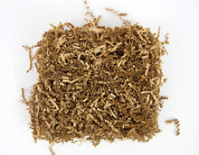 Shredded Brown Paper Packaging Material.