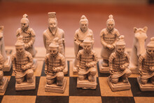 Closeup Of Chinese Chess Figures