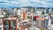 Joinville - SC. Aerial View Of...