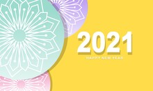 Flat Design Happy New Year 2021 Greeting Celebration