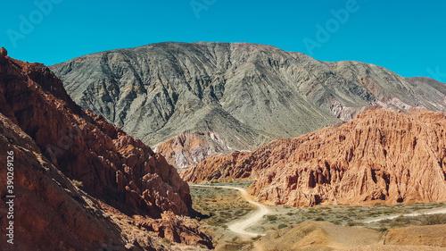 Leinwand Poster Beautiful shot of an arid landscape