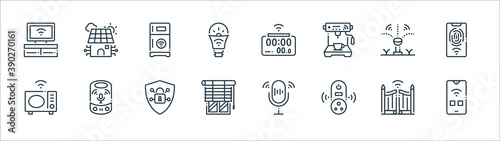 smart home line icons Poster Mural XXL
