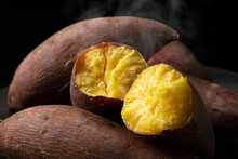 A Steamy Sweet Potato Split In...