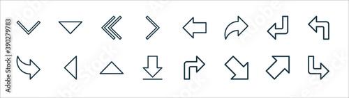 Fotografija arrow line icons