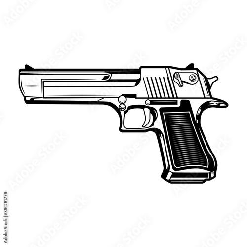 Pistol vector illustration Fototapeta