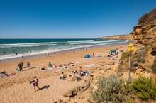 Summertime At Jan Juc Beach, Jan Juc, Near Torquay, Surf Coast Shire, Great Ocean Road, Victoria, Australia