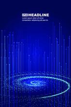 Luminous Particle Vortex And Line, Internet Technology Big Data Background
