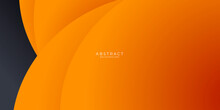 Abstract Dynamic Orange And Black Combination Background Design