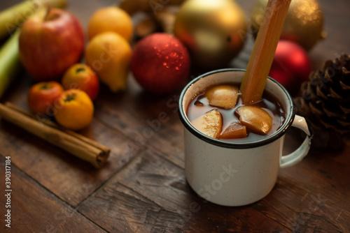 Fotografia Ponche de frutas navidad fiesta celebración invierno méxico tradiconal bebida ca