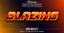 Editable Text Style Effect - Blazing Theme Style.