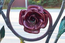 Metallic Rose Burgundy Color, ...