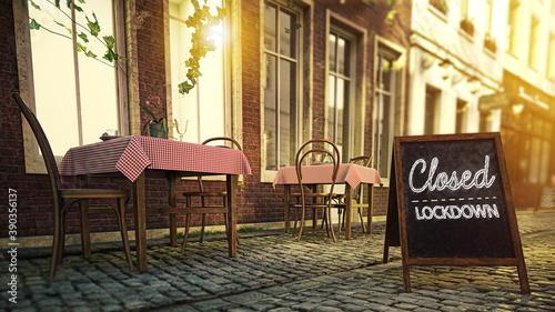 Foto Restaurant/Gastronomie - Wegen Lockdown geschlossen
