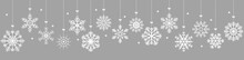 Hanging Snow Stars Banner For Christmas Greetings Time