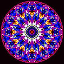 Decorative Ornamental Astronira's Mandala With 3d Effects In A Bright Colors