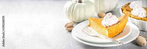 Fotografie, Obraz Traditional Autumn Pumpkin Pie