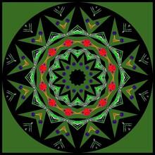 Decorative Astronira's Mandala In A Bright Colors