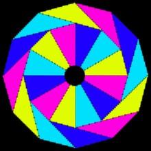 Abstract Geometric Astronira's Mandala In A Bright Colors