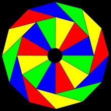 Abstract Geometric Astronira's Mandala In A Bright Rainbow Colors