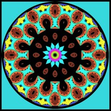 Decorative Geometric Mandala In A Bright Colors In The Ethnic Style