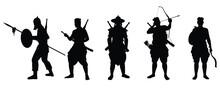 Siam Warrior Troops Silhouette...