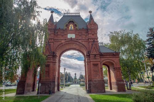 Carta da parati triumphal arch built for the visit of Tsar Alexander III