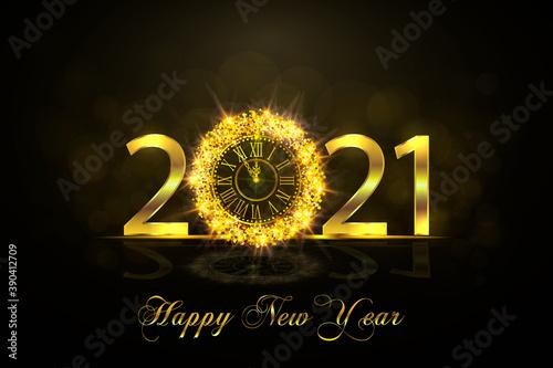 Happy New Year 2021 Canvas Print