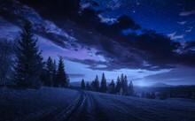 Road Through The Carpathian Al...