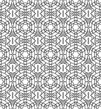 Seamless Decorative Pattern In A Black And White Colors