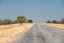 Empty Straight Highway
