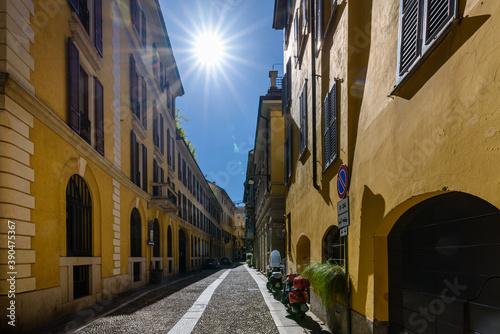 Milano, vie del quartiere di Brera Billede på lærred