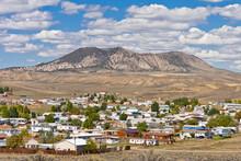 Town Of Craig Colorado  With Cedar Mountain In The Backdrop, Moffatt County, Colorado