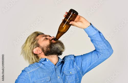 Tela drunk hipster male craft bottled beer