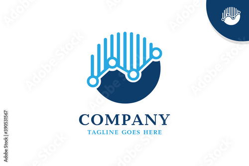 Платно Circle finance logo template - a simple design for your finance company