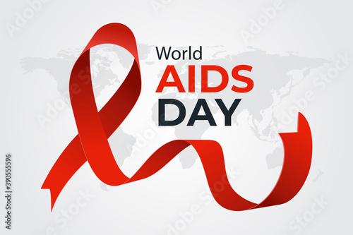 Foto Flat design world aids day Vector illustration