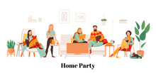 Cozy Home Party Illustration