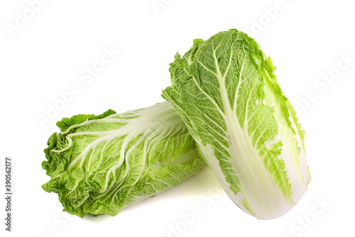Fényképezés fresh chinese cabbage on a white background