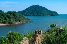 Mountain Island Scenic View From  Hill To Sea At Noen Nangphaya View Point Travel Destination On Chalerm Burapha Chonlathit Highway Chanthaburi Thailand