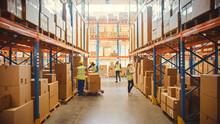 Retail Warehouse Full Of Shelv...