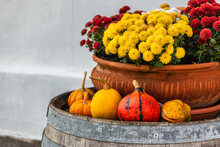 Autumn Decoration With A Ceram...