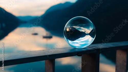 Crystal ball alpine sunset shot at the famous Achensee, Pertisau, Tyrol, Austria Fotobehang