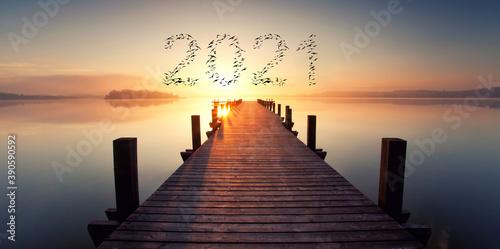 Obraz 2021 Start - fototapety do salonu