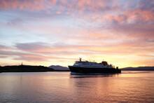 A Ship Entering Oban Harbour I...