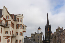 View Over Royal Mile From The Castle Esplanade In Edinburgh