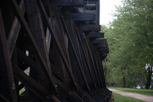 Wooden Train Trestle For An Abstract