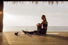 Yoga At A Luxury Beach Stilt H...
