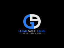 Ge G&E Letter Type Logo, Gg Logo Image Vector Stock