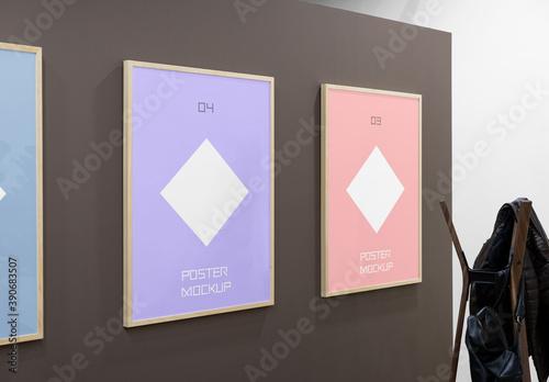 Fototapeta Triple Poster Mockups obraz