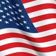 USA flag vector background. The United States of America waving flag background. Square shape US flag.